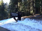 The entrance to Sequoia National Park
